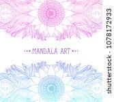hand drawn mandala and flower... | Shutterstock .eps vector #1078172933