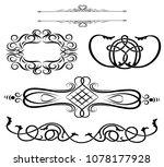 vintage calligraphic design... | Shutterstock .eps vector #1078177928