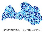 latvia map collage of dots in... | Shutterstock .eps vector #1078183448