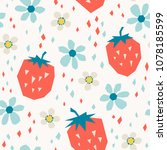 seamless pattern with... | Shutterstock .eps vector #1078185599