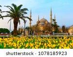 the blue mosque   sultanahmet...   Shutterstock . vector #1078185923