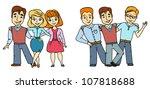 friends   Shutterstock .eps vector #107818688