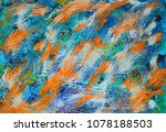 hand painted abstract with... | Shutterstock . vector #1078188503