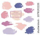 vector paint brush spots  hand... | Shutterstock .eps vector #1078192220