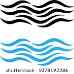 water wave icon  water wave... | Shutterstock . vector #1078192286
