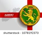 alderney flag independence day... | Shutterstock .eps vector #1078192373