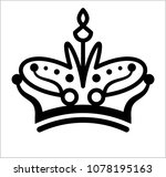 crown icon  crown raster art... | Shutterstock . vector #1078195163