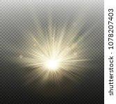 sunset or sunrise golden... | Shutterstock .eps vector #1078207403