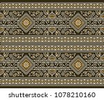 seamless brown traditional... | Shutterstock .eps vector #1078210160
