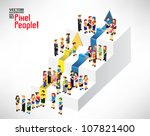 a large group of people gather... | Shutterstock .eps vector #107821400
