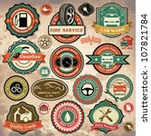 collection of vintage retro... | Shutterstock .eps vector #107821784