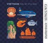 travel to vietnam landmark... | Shutterstock .eps vector #1078217873