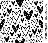 vector monochrome seamless... | Shutterstock .eps vector #1078222649