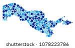uzbekistan map mosaic of small...   Shutterstock .eps vector #1078223786