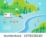 summer travel illustration | Shutterstock .eps vector #1078228160