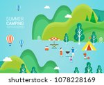 summer travel illustration | Shutterstock .eps vector #1078228169