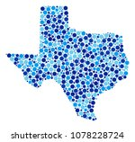 texas map collage of circle... | Shutterstock .eps vector #1078228724