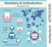 dentistry and orthodontics... | Shutterstock .eps vector #1078231550