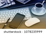 items for business and... | Shutterstock . vector #1078235999