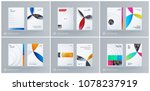brochure design paper cut... | Shutterstock .eps vector #1078237919