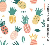 seamless pattern with cute...   Shutterstock .eps vector #1078238510