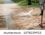 outdoor floor cleaning with a... | Shutterstock . vector #1078239923
