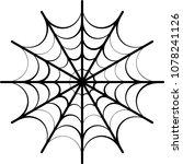 spider web icon design raster... | Shutterstock . vector #1078241126
