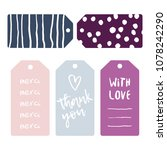 thank you cards vector set.... | Shutterstock .eps vector #1078242290