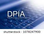 data protection impact... | Shutterstock . vector #1078247900