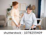 professional medical caretaker... | Shutterstock . vector #1078255409