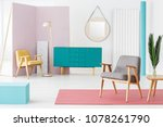 creative  wooden furniture... | Shutterstock . vector #1078261790