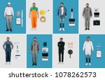 set of different professions ... | Shutterstock . vector #1078262573