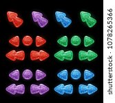 set of 4 colors 6 shapes glossy ...