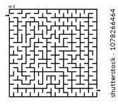 labyrinth  maze conundrum for...   Shutterstock .eps vector #1078266464