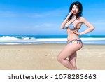3d beautiful woman swimsuit...   Shutterstock . vector #1078283663