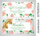 voucher  gift certificate ...   Shutterstock .eps vector #1078285514