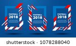 football world cup 2018. design ... | Shutterstock .eps vector #1078288040