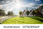 dutch landscape with historical ... | Shutterstock . vector #1078289669