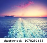 deck on ferry sailing across... | Shutterstock . vector #1078291688