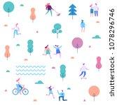 outdoor activity. background... | Shutterstock .eps vector #1078296746