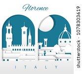 florence italy skyline | Shutterstock .eps vector #1078303619