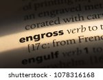Small photo of engross word in a dictionary. engross concept