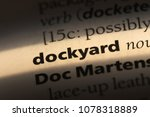 dockyard word in a dictionary.... | Shutterstock . vector #1078318889