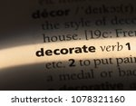 decorate word in a dictionary.... | Shutterstock . vector #1078321160