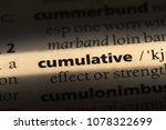 Small photo of cumulative word in a dictionary. cumulative concept