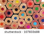 color pencils close up | Shutterstock . vector #107833688