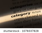 Small photo of category word in a dictionary. category concept