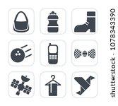 premium fill icons set on white ... | Shutterstock .eps vector #1078343390