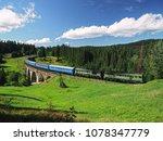 carpatian mountains train...   Shutterstock . vector #1078347779