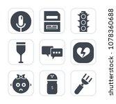 premium fill icons set on white ... | Shutterstock .eps vector #1078360688